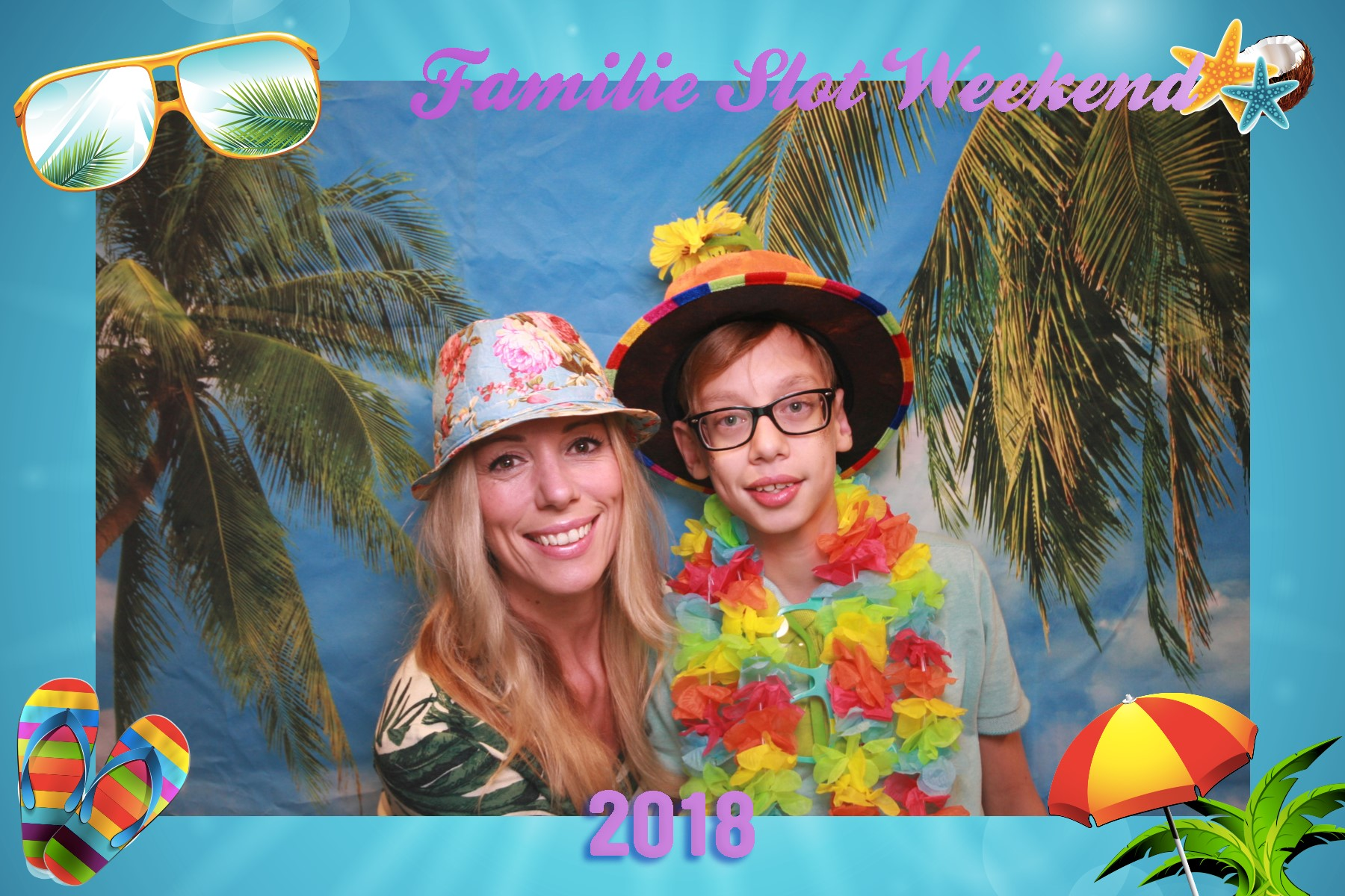 Beach party photobooth