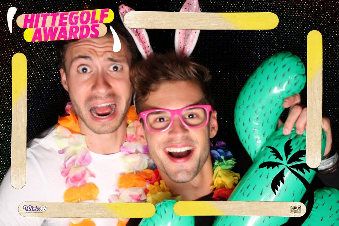 Tropical beach photobooth