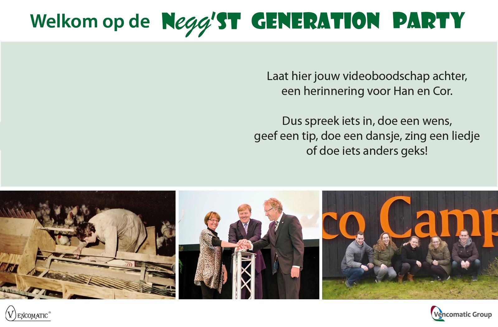 opnamestartscherm Negg'st generation