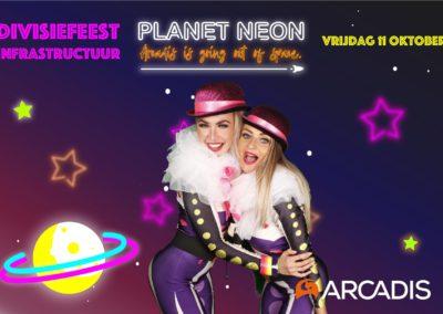 Neon planet photobooth